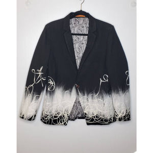 Jacques Moadel Ombre Embellished Blazer